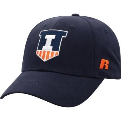 メンズ スポーツリーグ アメリカ大学スポーツ Men's Russell Athletic Navy Illinois Fighting Illini Endless Adjustable Hat - OSFA