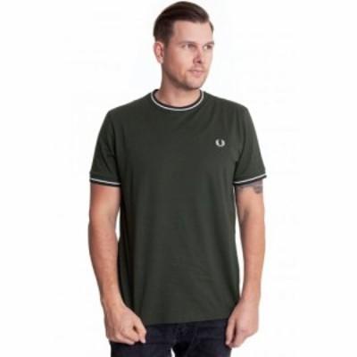 フレッドペリー Fred Perry メンズ Tシャツ トップス - Twin Tipped Hunting Green - T-Shirt green