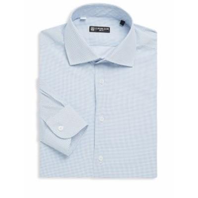 コーネリアーニ メンズ ドレスシャツ ワイシャツ Dot-Print Cotton Dress Shirt