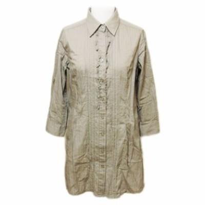 ZAZIE「38」Frill long blouse (ザジ フリルロングブラウス、チュニックワンピース) 063725【中古】