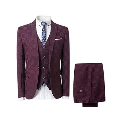 [FOMANSH] メンズ スーツ スリーピーススーツ 3色 M-5XL 一つボタン