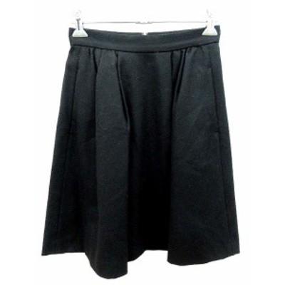 【中古】ボールジー BALLSEY トゥモローランド スカート フレア ミニ ウール 34 黒 ブラック /YK レディース