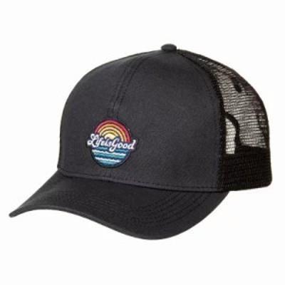 ライフイズグッド キャップ Beachy Patch Mesh Back Chill Trucker Hat Night Black