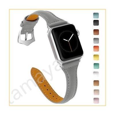 For Apple Watchバンド38?mm、oulucciレトロTop Grain本革交換用ストラップステンレススチールクラスプ付きiWatch