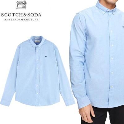 SCOTCH & SODA スコッチ アンド ソーダ 11401 CLASSIC OXFORD BD SHIRTS クラシック オックスフォード ボタンダウン シャツ 長袖 ホワイト 送料無料