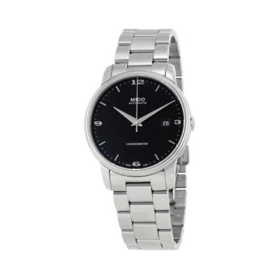 腕時計 ミドー Mido Baroncelli III ブラック ダイヤル オートマチック メンズ 腕時計 M0104081105190