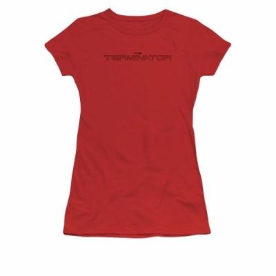 Tシャツ ターミネーター Terminator Movie Logo Outline Licensed Junior Shirt S-XXL