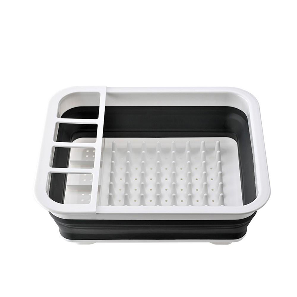 【熊愛貝百貨】可折疊瀝水架瀝水籃 碗碟籃 流理台水槽置物收納架