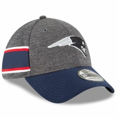 New Era ニュー エラ スポーツ用品  New Era New England Patriots Heather Gray/Navy 2018 NFL Sideline Home Graphite 39TH