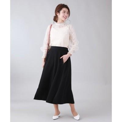 スカート サイドスリットAラインスカート