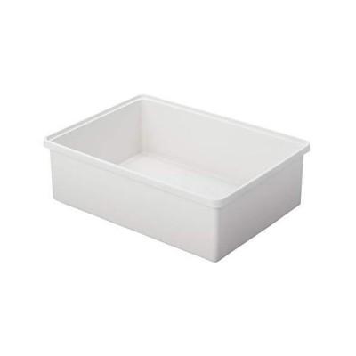 無印良品 ポリプロピレン収納ボックス・ワイド・中・ホワイトグレー 幅50.5×奥行37×高さ16cm 82620764