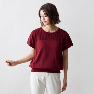 女性らしいプチ袖ニット【UVケア、接触冷感】(スタイルノート/StyleNote)