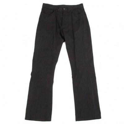 ワイズフォーメンY's for men ウールレーヨンストレッチストライプパンツ 黒W 【メンズ】