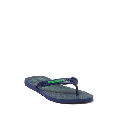ハワイアナス メンズ サンダル シューズ Aero Graphic Flip Flop NAVY BLUE/NAVY BLUE/LEAF GREEN
