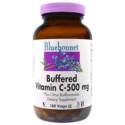 バッファード ビタミンC、500 mg、180ベジカプセル