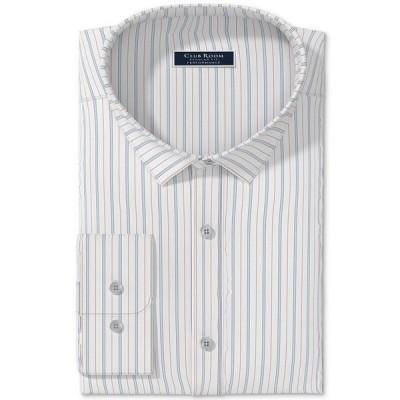 クラブルーム シャツ トップス メンズ Men's Triple Fine Stripe Dress Shirt,  White Red