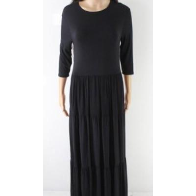 Maxi  ファッション ドレス Go Couture NEW Black Womens Size Small S Scoop Neck Blouson Maxi Dress