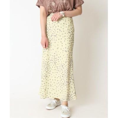 【スピック&スパン】 サテンフラワープリントスカート◆ レディース グリーン 38 Spick & Span