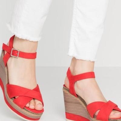 エイチアイエス レディース サンダル High heeled sandals - red