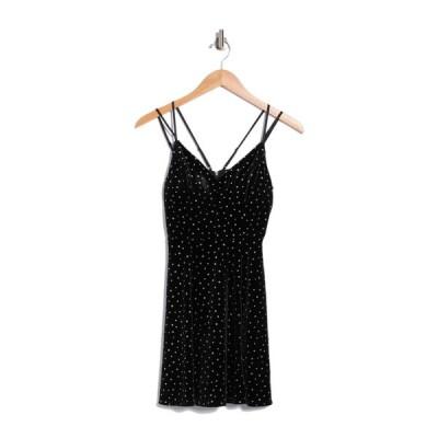 ラブニッキールー レディース ワンピース トップス Glitter Dot Velvet Skater Dress BLACK / SILVER