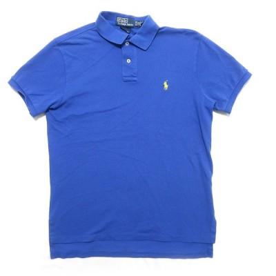古着 ポロラルフローレン ワンポイントロゴ ポロシャツ ブルー サイズ表記:M