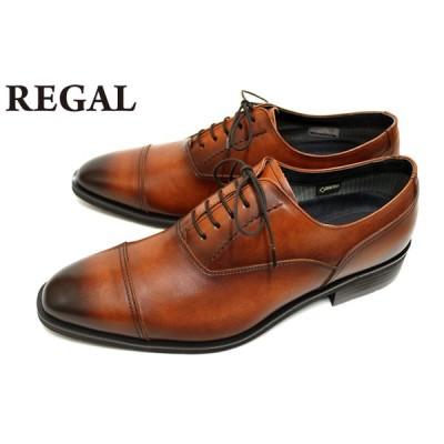 リーガル REGAL 靴 メンズ ビジネスシューズ 35HRBB GORE-TEX 本革 ストレートチップ ブラウン
