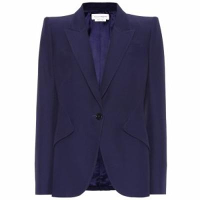 アレキサンダー マックイーン Alexander McQueen レディース スーツ・ジャケット アウター Single-breasted crepe blazer Sapphire