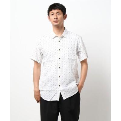 シャツ ブラウス 【BLUE STANDARD】和柄総柄半袖プリントシャツ