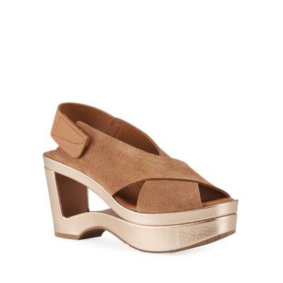 ペドロガルシア レディース サンダル シューズ Fidelina Metallic Cutout Wedge Sandals