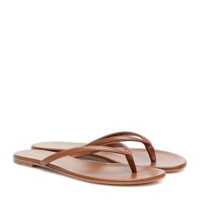 ジャンヴィト ロッシ Gianvito Rossi レディース サンダル・ミュール シューズ・靴 Calypso leather thong sandals Cuio