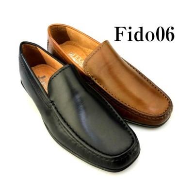 ドライビングシューズ 本革 メンズ 靴 スリッポン クールビズ ビジネスシューズ カジュアルシューズ 紐無し 黒 茶 ブラック ブラウン Fido06