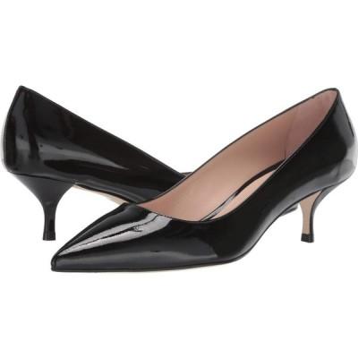 スチュアート ワイツマン Stuart Weitzman レディース パンプス キトゥンヒール シューズ・靴 Cindy 45 Kitten Heel Black Patent