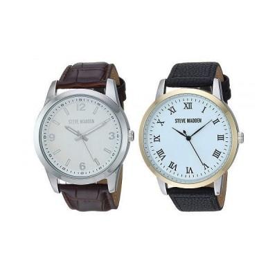 Steve Madden スティーブマデン メンズ 男性用 腕時計 ウォッチ ファッション時計 Strap Watch Set SMWS69 - Black/White/Gold/Brown/Silver