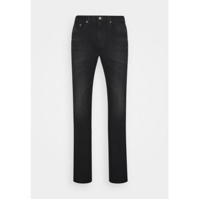 エドウィン メンズ スリム SLIM TAPERED - Slim fit jeans - dark black