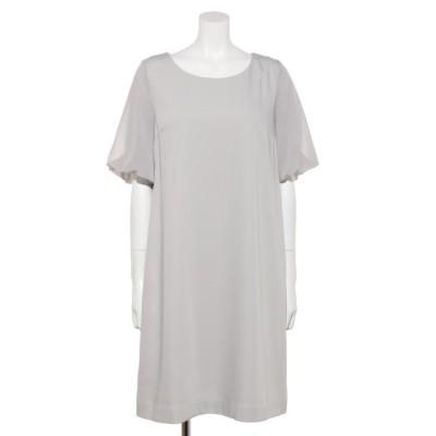 Rewde (ルゥデ) レディース 【LDprime】バックリボン5分袖ドレス グレー M