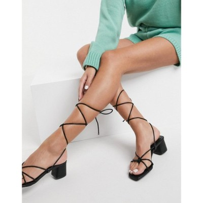 アルド ALDO レディース サンダル・ミュール シューズ・靴 Aldo Tie Leg Mid Block Heeled Sandals ブラック