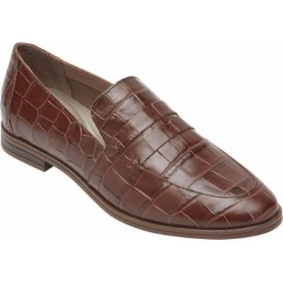 ロックポート レディース スリッポン・ローファー シューズ Women's Rockport Perpetua Penny Loafer Bourbon Croco Leather