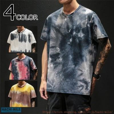 半袖Tシャツ メンズ プリントTシャツ 配色 カジュアル サマーTシャツ クルーネック 切り替え トップス 夏着 新作