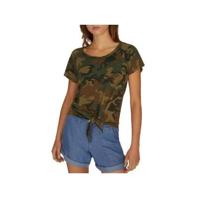 レディース 衣類 トップス Sanctuary Womens Lou Camouflage S T-Shirt Green XXS Tシャツ