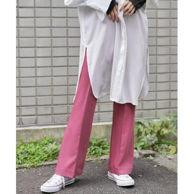 BASQUE magenta / センタープレスカラーフレアスラックスパンツ WOMEN パンツ > スラックス