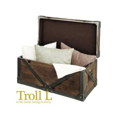 送料無料  アンティーク  レトロ  完成品 Troll トロール トランク プレゼント ギフト おしゃれ 祝い 引っ越し