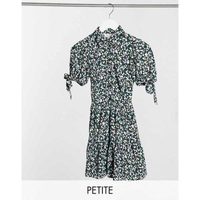 ミス セルフリッジ Miss Selfridge Petite レディース ワンピース シャツワンピース ワンピース・ドレス Shirt Dress In Blue Floral Print ブルー