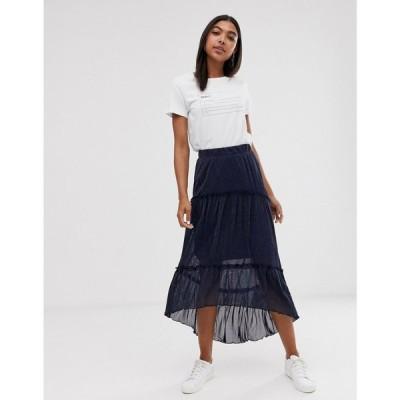 ミニマム Minimum レディース ロング・マキシ丈スカート スカート layered maxi skirt Navy