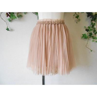 美品 ココディール COCODEAL 総 ダブル チュール の 可愛い ミニ丈 プリーツ スカート 2