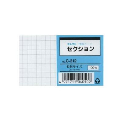 メール便発送 コレクト 情報カード 名刺サイズ セクション C-212