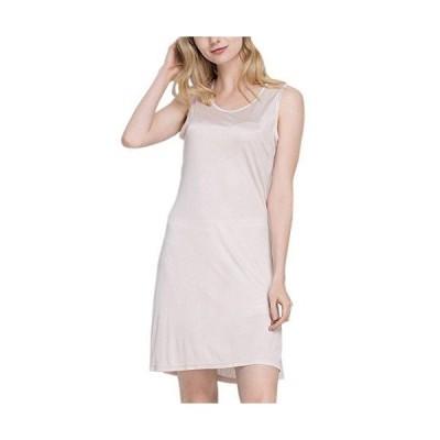 (MAYUDAMAシルク)ピュアシルク100% シルクニット ノースリーブ スリップ ロングドレス スカート ペチコート シルク パジャマ