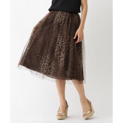 aquagirl / アクアガール Bilitis dix-sept ansチュールレオパード柄スカート