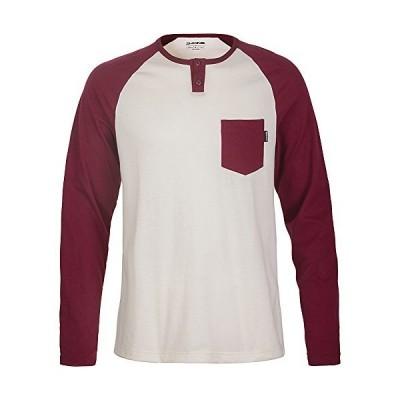 Dakine Men's Phoenix Long Sleeve Henley Shirt, Rosewood, 2XL