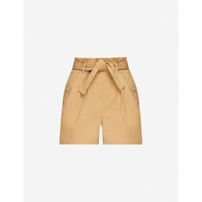 マージュ MAJE レディース ショートパンツ ボトムス・パンツ High-rise stretch-cotton shorts CAMEL