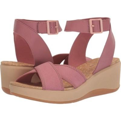 クラークス Clarks レディース サンダル・ミュール シューズ・靴 Step Cali Coast Mauve Pink Canvas